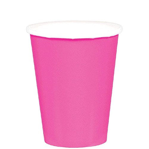 amscan-international-266-ml-paper-cups-bright-pink-pack-of-20