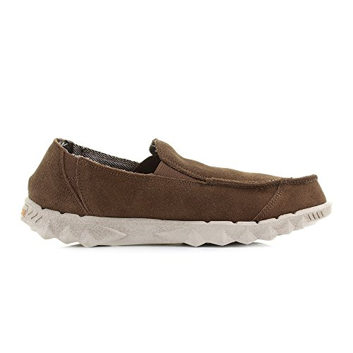 Dude Shoes Men's Farty Nut Suede Slip On Mule Brown