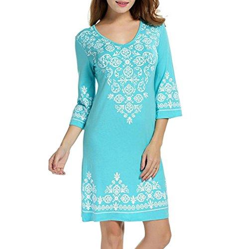 ESAILQ Damen Kleid Retro Ärmellos Kurz Brautjungfern Kleid Spitzenkleid (XL,Himmelblau) (Falten Tweed-rock)