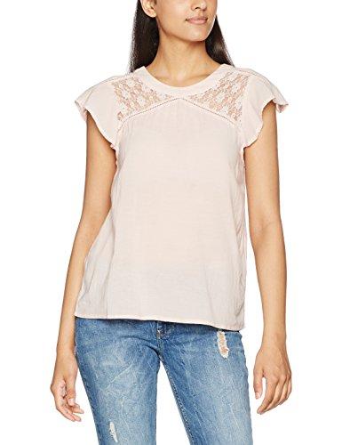 Vero Moda Vmpingo Capsleeve Top A, T-Shirt Donna Rosa (Peach Whip)