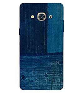 For Samsung Galaxy J3 Pro blue jeans ( blue jeans, pattern, jeans pattern ) Printed Designer Back Case Cover By TAKKLOO