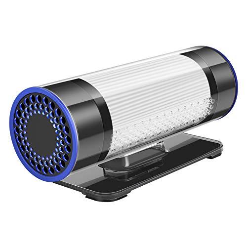 QUEENTY Purificador de Aire para Coche con Filtro HEPA y Carbón Activado, Ambientador para Automóvil...