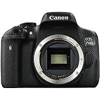 "Canon EOS 750D Body - Cámara réflex Digital DE 24.2 MP (Pantalla 3"", estabilizador óptico, grabación de vídeo Full HD, DIGIC 6), Color Negro (versión española)"
