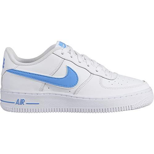 Nike Herren Air Force 1-3 (Gs) Basketballschuhe Mehrfarbig (White/University Blue 102) 40 EU