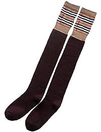 Calcetines de Muslo Para Mujer, Fascigirl Calcetines Largos de Par de Medias de Algodón Sobre