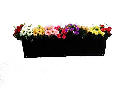 Frische Idee Wiederverwendbare Wandbegrünung Blumen Tasche Hängend Wand Pflanztasche mit 4 Taschen