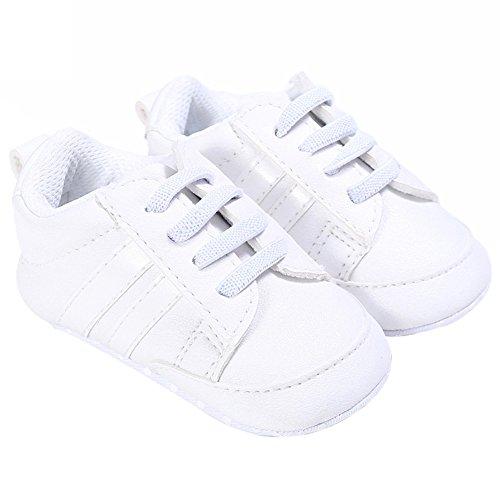 Nicholco, Scarpe primi passi bambini White + Silver Edge 6-12M White