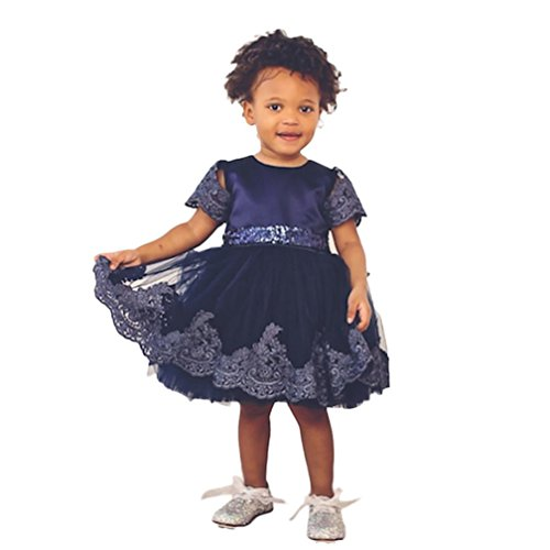 SHOBDW Girls Dresses, Baby Fashion Lace Princess Bridesmaid Pageant Tutu Tulle Gown Party Wedding Dress Kids Clothes Gifts