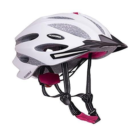 HUDORA Fahrradhelm Granit Damen Herren, Fahrrad-Helm Rad-Helm Gr. 59-61, grau/fuchsie