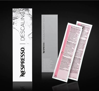 NESPRESSO DESCALING KIT INCLUDES 2 UNITS NEW VERSION ,NEW