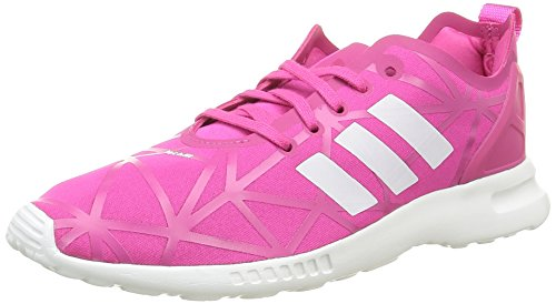 adidas Zx Flux Smooth, Baskets Basses Femme Rose (Eqt Pink/Eqt Pink/Core White)