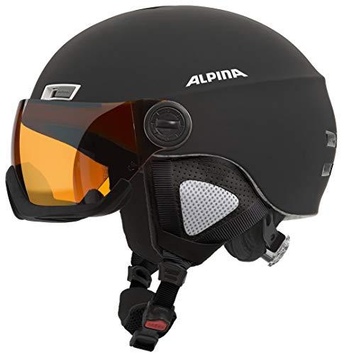 Alpina Skihelm Menga JV, schwarz Matt, 55-59 cm, 9061231