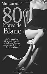 80 notes de blanc