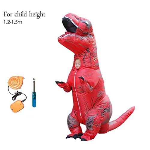 bare TREX-Kostüm Erwachsene Kinder Dinosaurier Für Männer Frauen T Rex Jumpsuit Party Halloween Cosplay Blowup Disfraces Outfit,Child ()