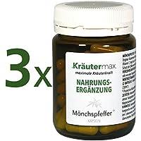Mönchspfeffer 3 x 60 Kapseln • Nahrungsergänzungmittel mit 700 mg Mönchspfefferextrakt, Vitamin C • In Kleinserien... preisvergleich bei billige-tabletten.eu