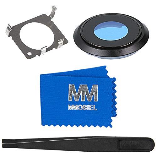 MMOBIEL Rück Back Glas Kamera Linse Cover für Hauptkamera kompatibel mit iPhone 8-4.7 Inch (Schwarz) inkl. Halterung und Pinzette