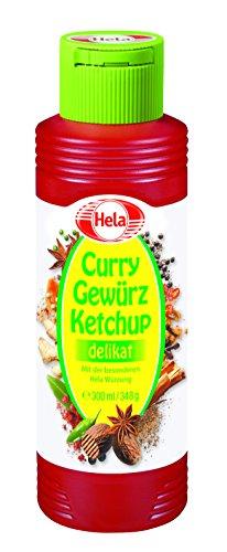Hela Curry Gewürz Ketchup delikat lactosefrei, 12er Pack (12 x 348g)