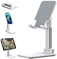 tenlamp Cell Phone Stand,Angle & Height Adjustable Foldable Desk Holder Stable Anti-Slip Design for iPhone