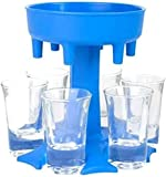 6 Schnapsglasspender und Halter, Schnapsglas und Tablett, Spender zum Befüllen von Flüssigkeiten, Cocktail-Shots Spender…