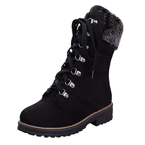Damen Blockabsatz Leder Schnürhalbschuhe Low Top Lederschuhe Oxford 6cm Absatz Schuhe Elegante Vintage Schwarz Braun Beige Gr.34-43