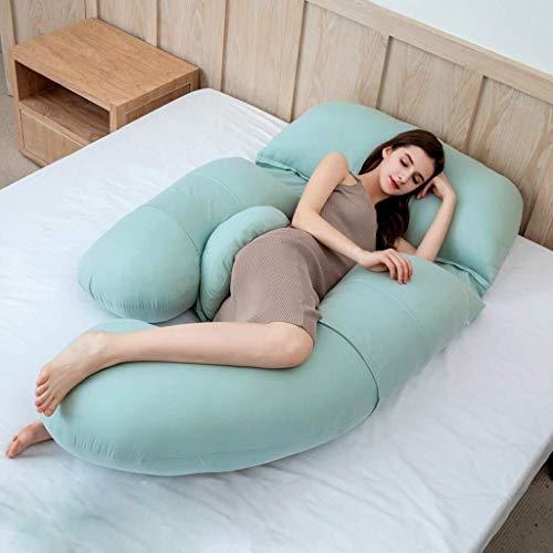 Schwangerschaftskissen, Mutterschafts- & Körperkissen Schlafkissen for Schwangere Schlafkissen for Schwangere Seitliches Schlafkissen for die Taille Seitliches Schlafkissen aus Baumwolle ( Color : A ) (Die Fetale Position)
