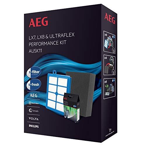 AEG AUSK11 Filter-Set (1 Feinstaubfilter, 1 Hygienefilter, 1 s-fresh), für UltraFlex, AUFgreen, AUF8220, LX8-, LX8-2-, SilentPerformerCyclonic, ASPC 71, LX7-, LX7-2-
