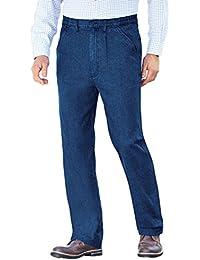Mens High - Rise Denim Elasticated Stretch Cotton Jean