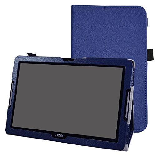 """Acer Iconia One 10 B3-A30 Coque,Mama Mouth Slim Folio PU Cuir debout Fonction Housse Coque Étui Couverture pour 10.1"""" Acer Iconia One 10 B3-A30 Android Tablette,Bleu foncé"""