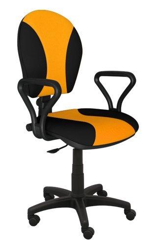 Best For Office Bürostuhl Höhenverstellung Schreibtischstuhl MARKO Modell (SCHWARZ-GELB)