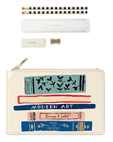 Kate Spade New York Women's Gold Stripe Pencil Pouch Kate Spade Spade