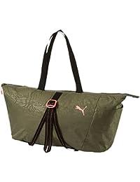 Puma Polyester 44 Cms Olive Night-Black-Nrgy Peach Travel Duffle (7481802)