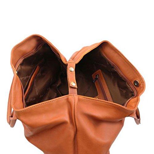 Tuscany Leather TL KeyLuck - Borsa donna in pelle - TL141207 (Nero) Cognac
