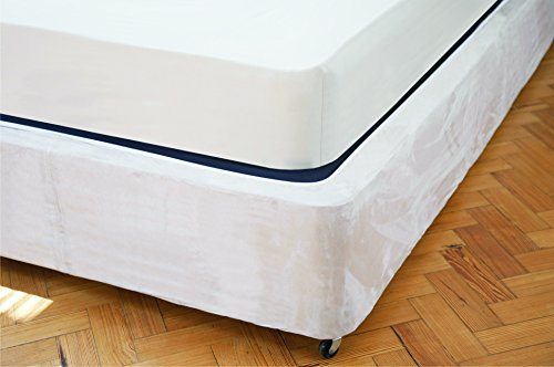 Divan Bed Base Wrap Valance in Single Bed Size in Linen Beige 19″ Deep to Fit Bed Base 18″ (45cm)