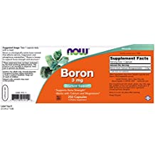 Now Foods Boron 3 Mg - 250 Capsules
