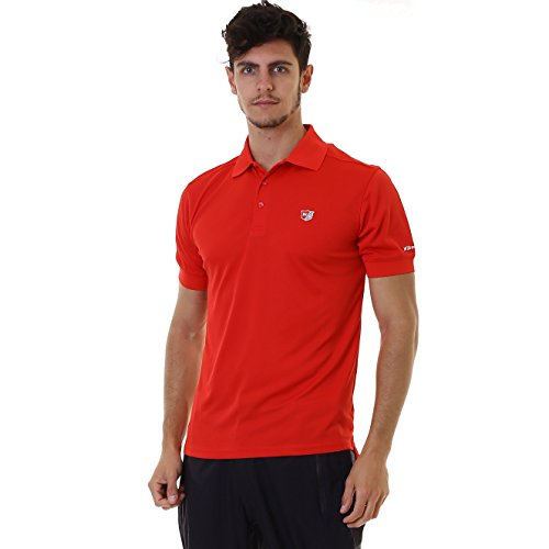 WILSON Staff Mens Authentic Polo-Shirt Red Grösse (XL) - Authentic Polo-shirts