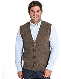 Woolovers Mens Lambswool Knitted Waistcoat