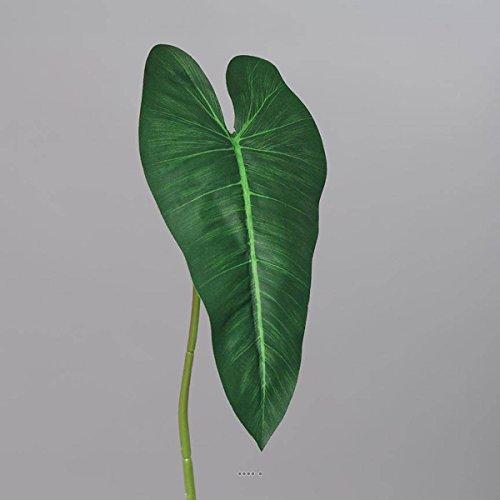 Artificielles Künstliche Philodendron-Blatt, Höhe 65 cm, Stoff