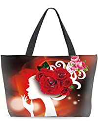 Ladies Girls Fashion Patent Canvas Beach Shopping school college Tote Handbag
