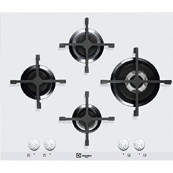 Electrolux pvb645uov incasso superiore di gas Bianco Piano Cottura ...