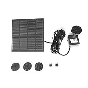 1.2W Panel Solar Bomba de Agua de Potencia Kit para Piscina Jardín Estanque para pájaros Fuente de Agua Bomba de riego Sumergible con Anillo Flotante