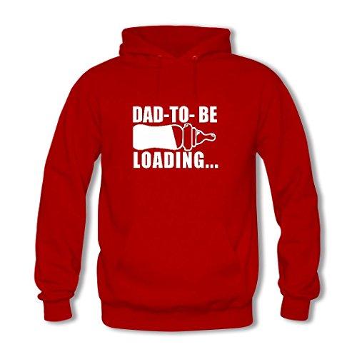 weileDIY Dad 2018 Loading DIY Custom Women's Printed Hoodie Sweatshirt Red_B