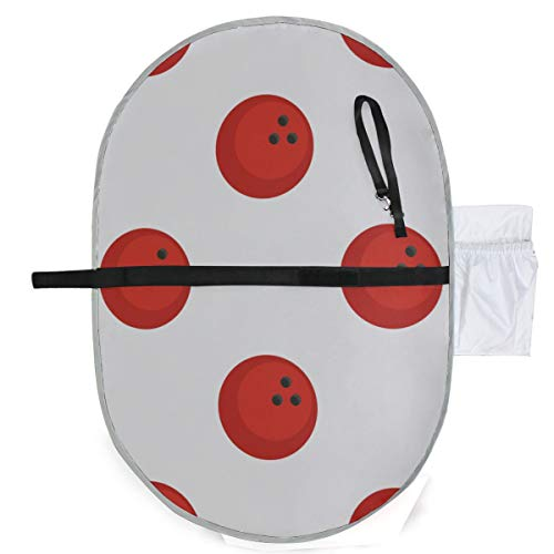 Baby tragbares Pad wasserdicht faltbar rot marmoriert Bowlingkugel Muster Windelmatte Reisematte bequem hängen