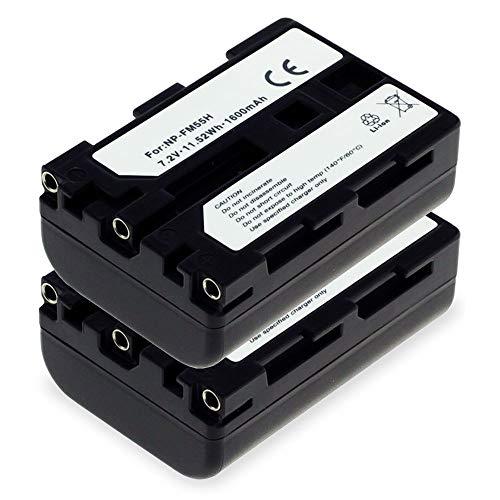 subtel 2X Akku kompatibel mit Sony DSLR-A100 Alpha 100 DSC-R1 DSC-F828 -F717 -F707 DSC-S70 -S75 HDR-SR1 HDR-HC1 -UX1 GV-D1000 DCR-TRV350 -TRV330, NP-FM55H NP-FM50 NP-QM51 1600mAh Ersatzakku Batterie Np-fm50-lithium-batterie