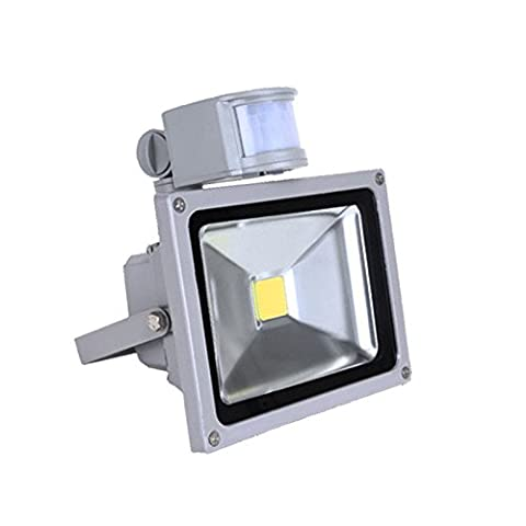 Hengda® LED Kaltweiß Fluter 20W Gärten Fluter mit bewegungsmelder wasserdicht IP65,120° Abstrahlwinkel