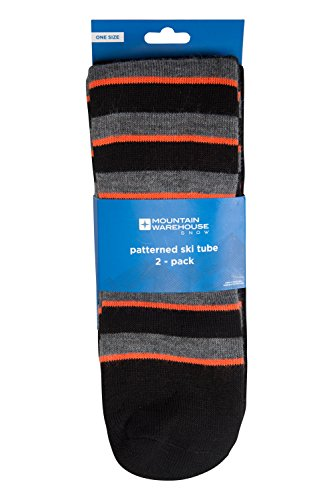Mountain Warehouse Patterned Ski Tubes - 2 Pack, Easy Care, Lightweight, Extra Warm Socks With Fine Toe Seams - One Size Fits All - A Must Have Item For The Winter
