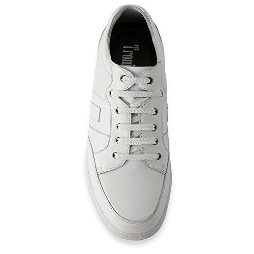 Masaltos Chaussures Réhaussantes Pour Homme avec Semelle Augmentant la Taille JusquÀ 7cm. Fabriquées en Peau. Modèle Ibiza B Blanc