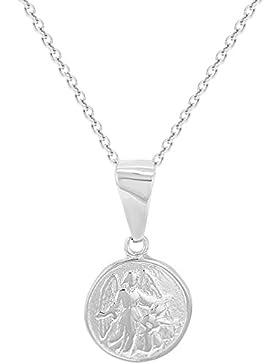 In Season Jewelry Säugling - Halskette Schutzengel Kleine Medaille 925 Sterling Silber 40cm