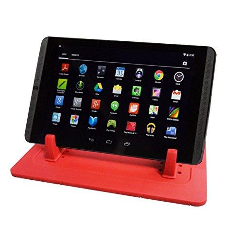 EREACH Supporto antiscivolo per cruscotto auto per Phone Samsung S7/S6/S5/S4/S3/iPhone 4s/5/5s/5Se/6/6S(plus)/7(Plus), supporto per Tavolo PC (Rosso) Rosso