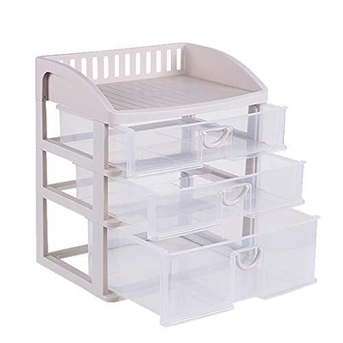 KKY-ENTER Boîte de rangement cosmétique transparente en plastique Type de tiroir de bureau Rouge à lèvres Bijoux Produits de soin de la peau Boîte de stockage Affichage