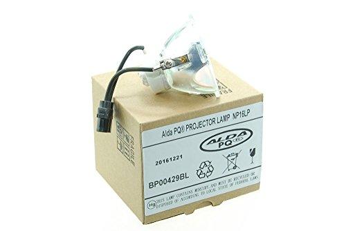 Alda PQ Premium, Beamerlampe / Ersatzlampe NP16LP / 60003120 für NEC M260WS, M300W, M300WG, M300XS, M311W, M350X, M361X, NP-P350X Projektoren, nackte Birne, ohne Gehäuse